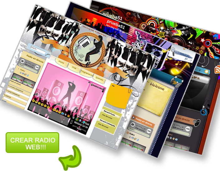 Crear web para radio radio streaming radio internet Crear website